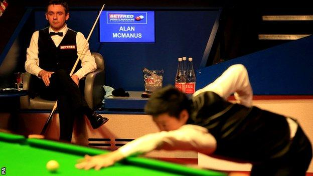 Alan McManus and Ding Junhui