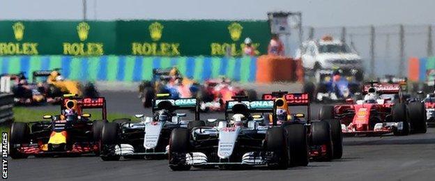 Start of Hungarian GP