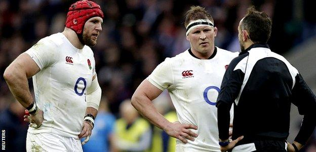 James Haskell, Dylan Hartley and Roman Poite