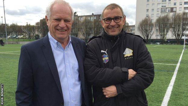 Suresnes deputy manager of the club Pierre Ville and head of youth Piotr Wojtyna