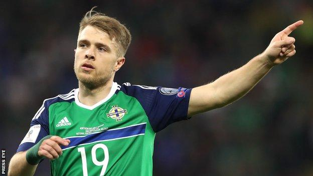 Jamie Ward is back in the NI squad after scoring on his last appearance against Norway in Belfast in March