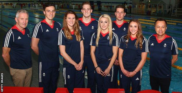 Jazz Carlin and the Team GB swimmers