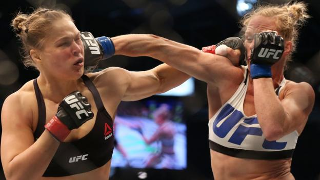Ronda Rousey knocked out by Holly Holm in UFC title upset - BBC ...