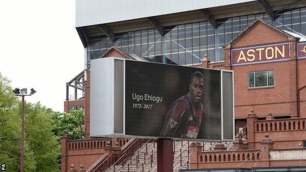 Ugo Ehiogu tribute outside Villa Park