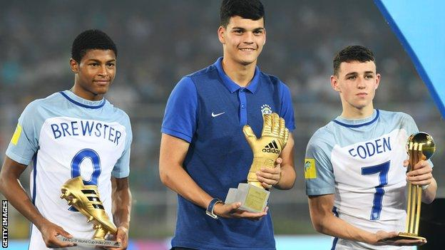 Rhian Brewster and Phil Foden take awards