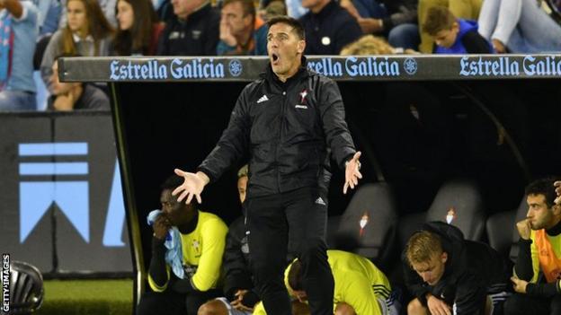 Celta Vigo manager Eduardo Berizzo