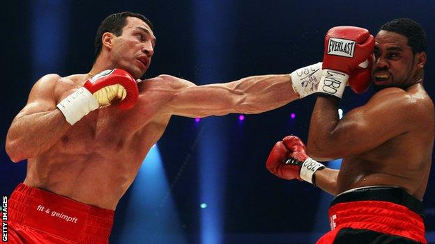 Klitschko's jab has become a trademark weapon over two decades as a pro