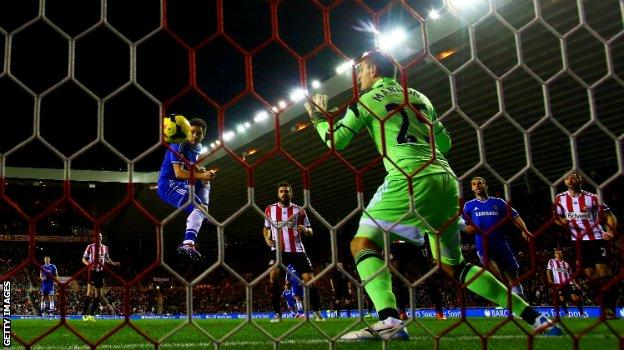 Frank Lampard scores for Chelsea against Sunderland