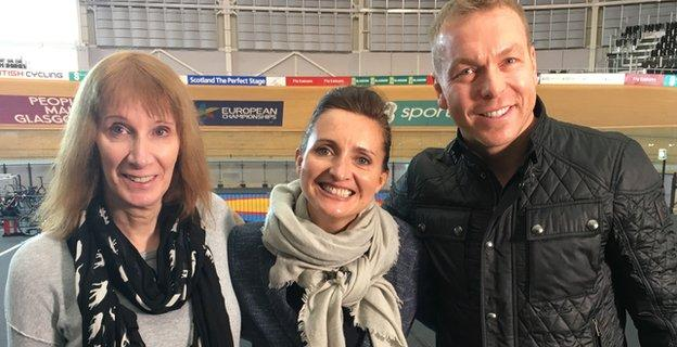 Philippa York, Rhona McLeod and Sir Chris Hoy