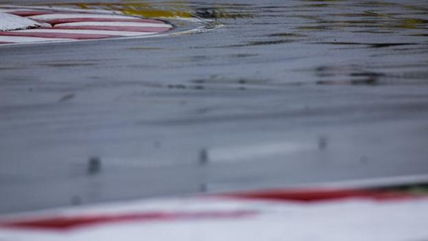 Wet weather at the Canadian Grand Prix