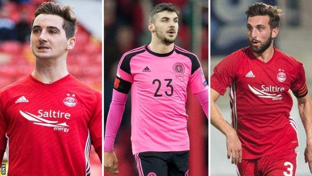 Kenny McLean, Callum Paterson and Graeme Shinnie have earned recalls to the Scotland side