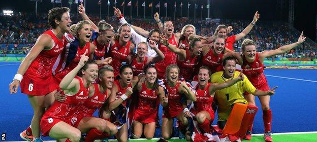 GB women celebrate