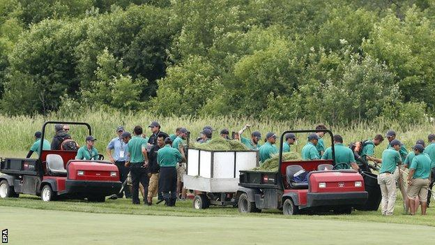US Open venue Erin Hills is shorn of rough
