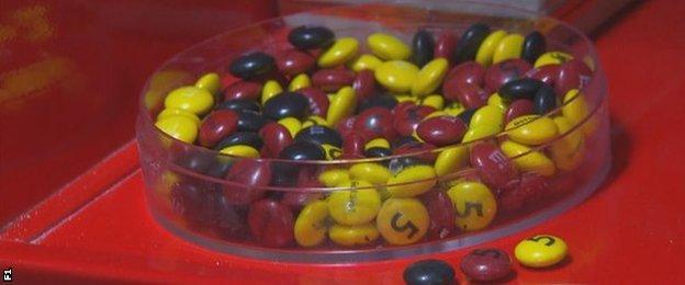 Sebastian Vettel sweets