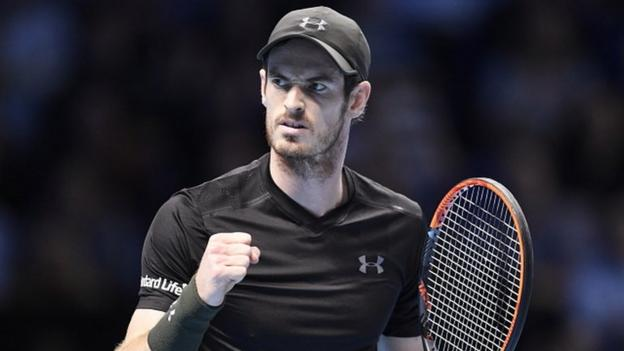 Image result for ATP World Tour Finals 2016: Andy Murray beats Marin Cilic in London