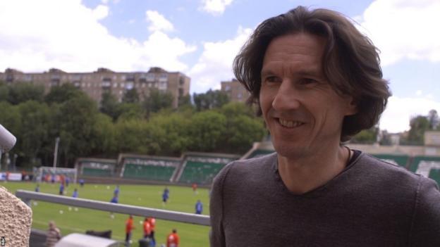 Russian football's anti-racism inspector Alexei Smertin