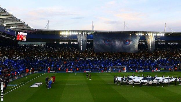 The King Power Stadium just before kick-off