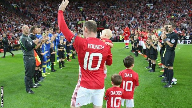 Wayne Rooney's testimonial for Manchester United against boyhood club Everton at Old Trafford in August 2016