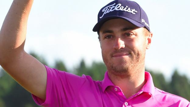 Justin Thomas wins CJ Cup after play-off against Marc Leishman