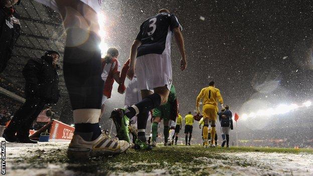 Snow at Stoke City