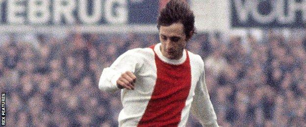 Johan Cruyff in action for Ajax in 1972