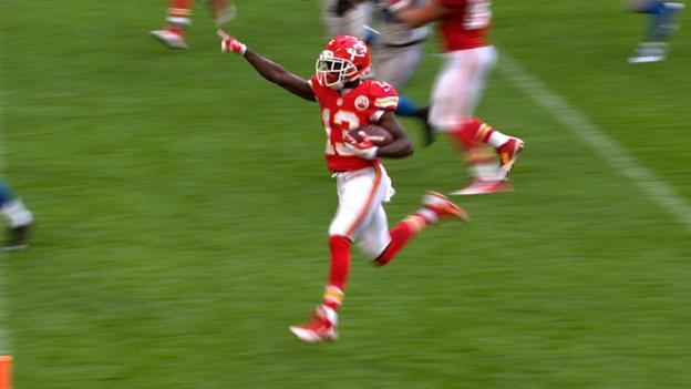 NFL: De'Antony Thomas runs in Chiefs touchdown against Detroit ...
