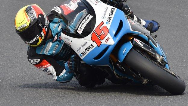 MotoGP: Alexis de Angelis 'improving' after crash - BBC Sport