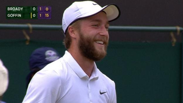2015 Wimbledon: Liam Broady laughs at Court 3 PA announcement ...