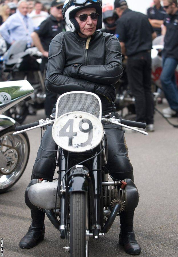 John Surtees on a motorbike in 2011