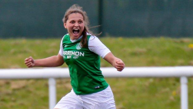 Late Abi Harrison winner puts Hibs into SWPL Cup final against Celtic