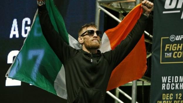 Conor McGregor: UFC star wants dual-weight titles - BBC Sport