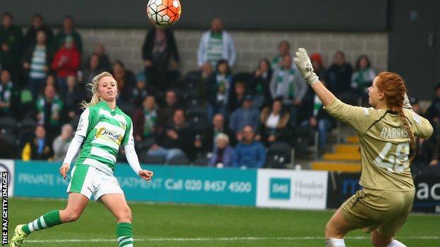 Nadia Lawrence scores for Yeovil