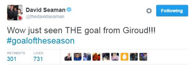 David Seaman was among those touting the strike as goal of the season