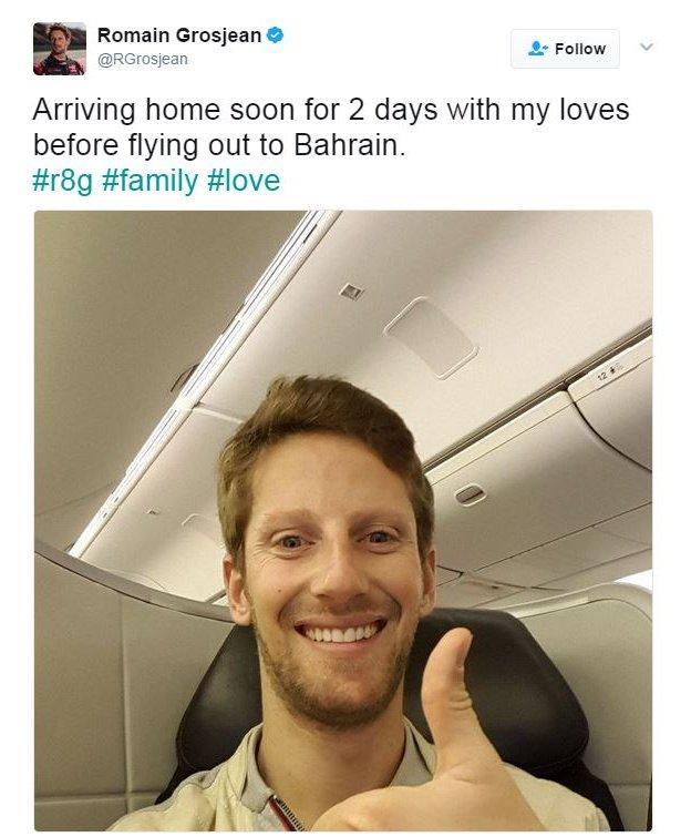 Romain Grosjean on Twitter