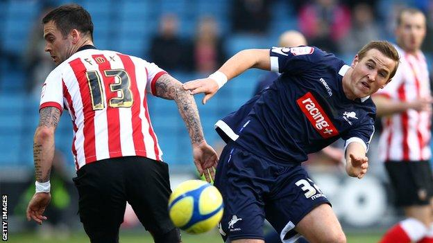 Harry Kane in action for Millwall against Southampton in 2012