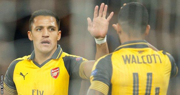 Arsenal duo Alexis Sanchez and Theo Walcott