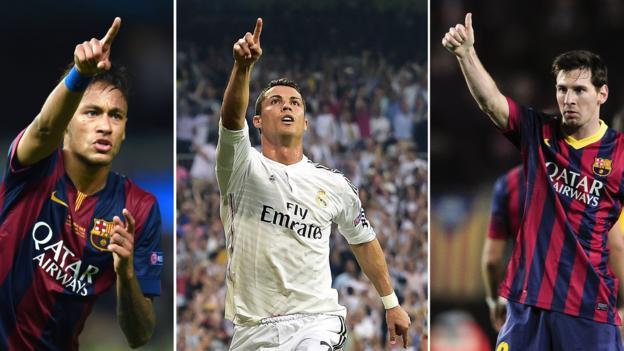 Cristiano Ronaldo, Lionel Messi & Neymar on Ballon d'Or shortlist ...