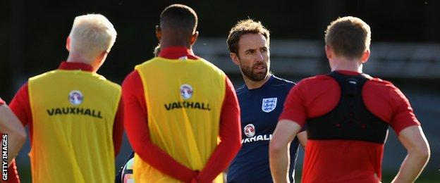 Gareth Southgate (second from left)