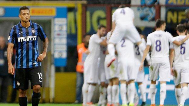 Inter Milan 1-4 Fiorentina - BBC Sport