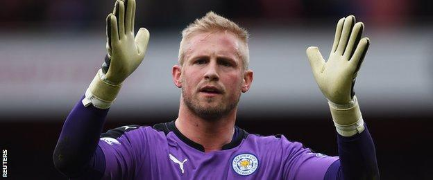 Man of the match Kasper Schmeichel Leicester City