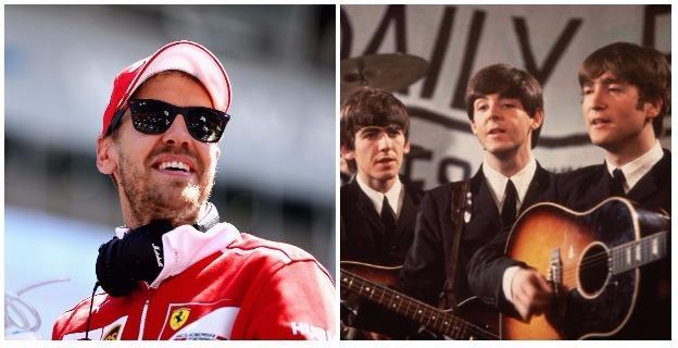 Sebastian Vettel and Beatles