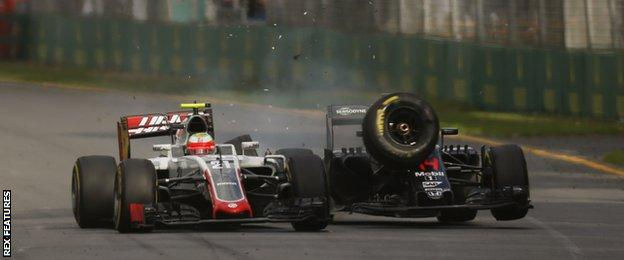 Gutierrez and Alonso collide