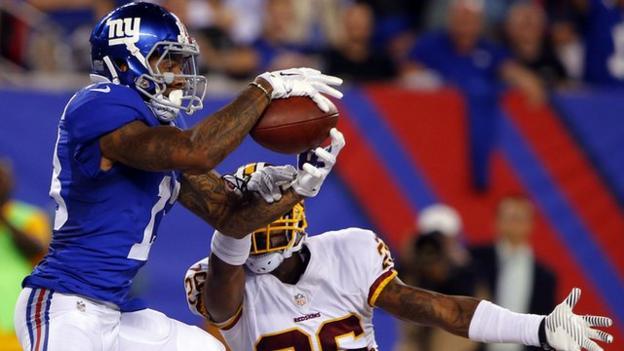NFL: Odell Beckham Junior completes 30-yard touchdown catch ...