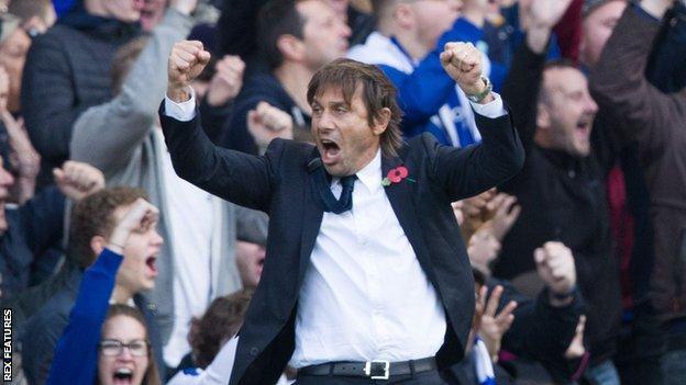 Conte celebrates