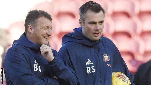 Billy McKinlay and Robbie Stockdale at Sunderland's game with Middlesbrough
