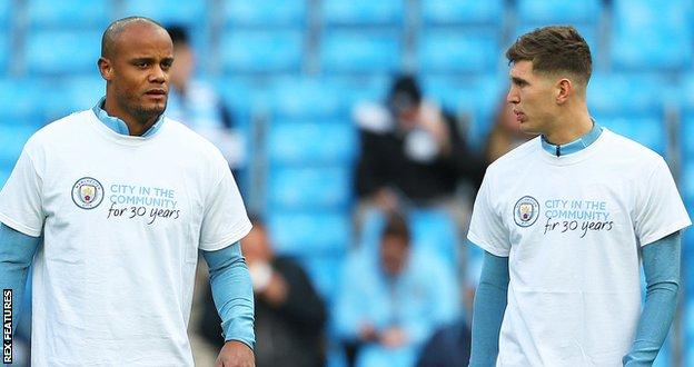 Vincent Kompany and John Stones