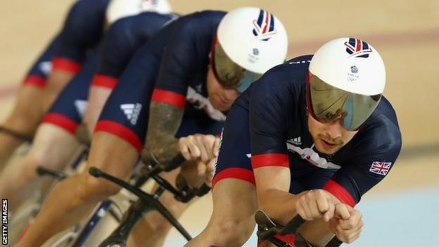Team GB cycling at Rio 2016