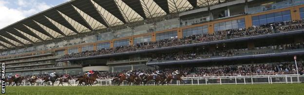 Stands at Ascot racecourse