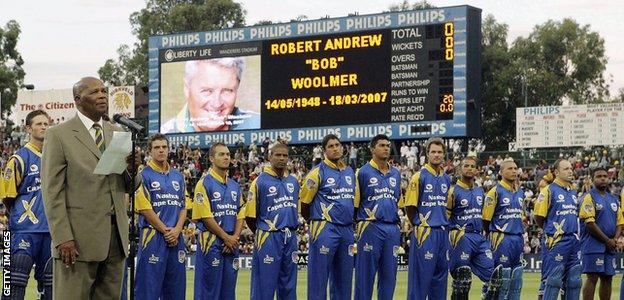 Remembrance services were held throughout the world for Bob Woolmer