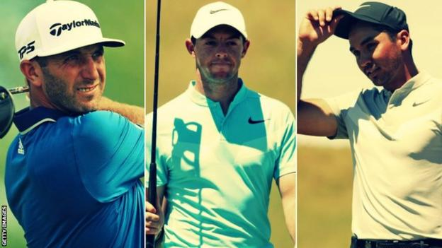 Dustin Johnson, Rory McIlroy and Jason Day